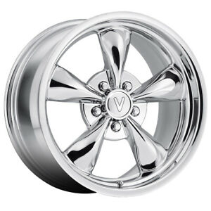 Replica By Voxx Mustang Bullet 17x8 5x4 5 Offset 30 Chrome qty Of 4