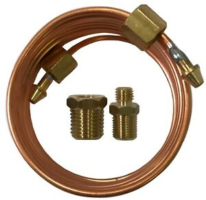 Mechanical Oil Pressure Gauge 72 Inch Copper Line Tubing Install Kit W Fitting