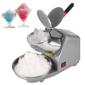 Electric Ice Crusher Shaver Machine Snow Cone Maker Shaved Ice W Scoop 110w