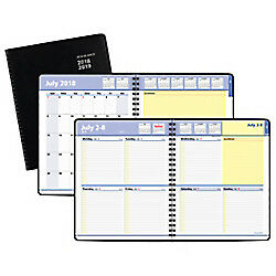 At a glance r Quicknotes r 13 month Academic Weekly monthly Planner 8in X 9