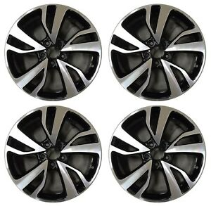19 Honda Odyssey 2018 2019 Factory Oem Rim Wheel 64120 Black Machined Full Set