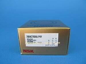 Nsk 7004ctrdulp4y Abec 7 Super Precision Spindle Bearings set Of Two