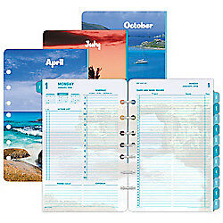 Day timer r Coastlines Daily Planner Refill 5 1 2in X 8 1 2in 30 Recycled