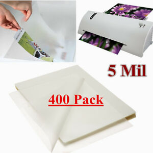 400 Pack 5 Mil Letter Size Thermal Laminating Pouches 9 X 11 5 Universal Glossy