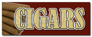 Cigars Decal Sticker Cigar Shop Humidor Cuban Smoke Shop Tobacconist Pipes