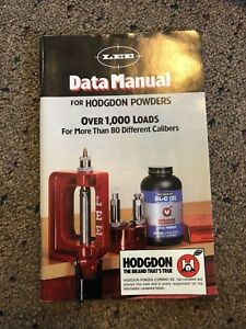 2001 LEE DATA MANUAL FOR HODGDON POWDERS