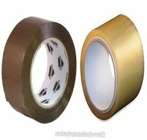Clear Brown Rolls Packing Tape Box Carton Sealing 2 Inch X 110 Yards