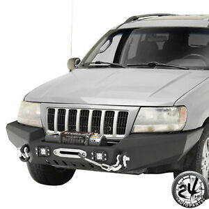 Black Steel Rear Bumper And 2 Receiver Hitch For 99 04 Jeep Grand Cherokee Wj