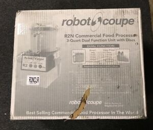 New Robot Coupe R2n Clr Commercial Food Processor W 3 Quart Bowl