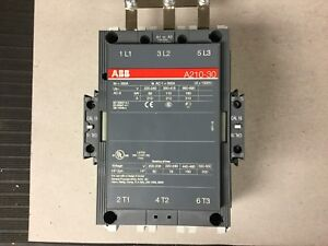 Abb A210 30 Contactor 300 Amp With 120 Volt Coil