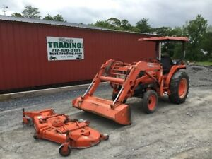 2001 Kubota L2900 Compact Tractor W Loader And 72 Mower Deck