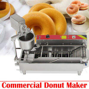 ups 3 Sets Mold Commercial Automatic Donut Maker Making Machine Wide Oil Tank