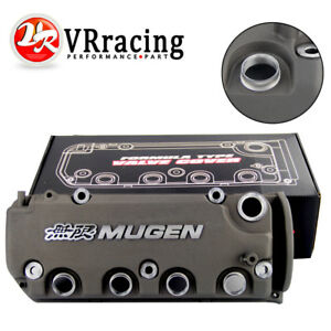 Mugen Style Grey Engine Valve Cover For Honda Civic D16y8 D16y7 Vtec Sohc