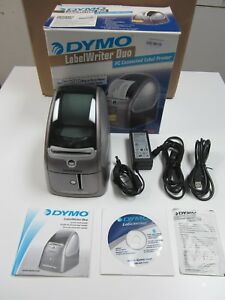 Dymo Labelwriter Duo Thermal Label Printer 93105 With Adapter Roll
