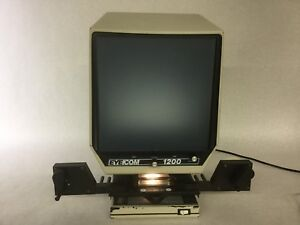 Eyecom 1200 Microfiche Reader Model 12001 Powers On Untested Free Shipping