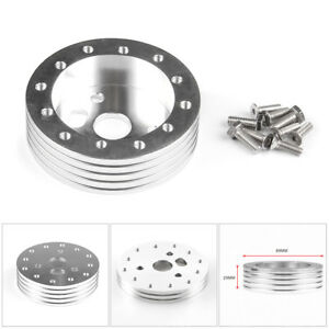 3 Hole 1 Hub 6 Holes Car Steering Wheel Boss Spacer Adapter Hex Bolt Grant Kit