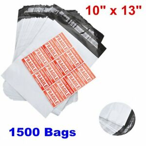 1500 10x13 Poly Mailer Shipping Supplies Mailing Envelopes Self Seal Bags 2 5mil