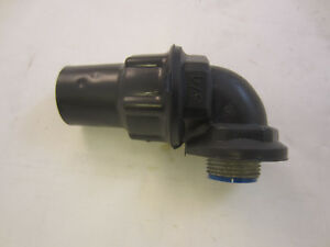 Robroy Pr5353 3 4 Pvc Coated 90 Deg Sealtight Connector Ocal St3 490 g