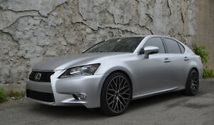 4 Gwg Wheels 20 Inch Staggered Black Flare Rims Fits Lexus Gs350 2014