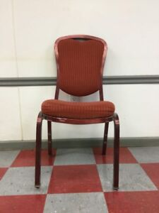 Mts Banquet Interlocking Red Chairs Qty 10