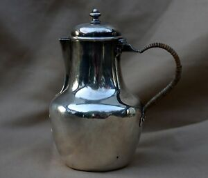 Rare Antique French Beunke Redolphe Sterling 950 Silver Lidded Pitcher 5 5 H