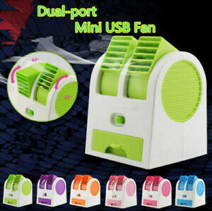Mini Fan Car Auto Air Freshener Vent Cooling Fan Cooler Radiator Bladeless Fan