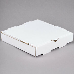 14 X 14 X 1 3 4 White Corrugated Plain Pizza Bakery Box 50 bundle