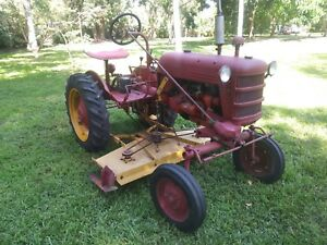 Farmall Cub Ih Tractor With Belly Mower And Draw Bar