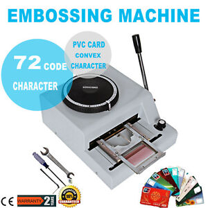 72 Character Letter Manual Embosser Stamping Machine Pvc Card Embossing