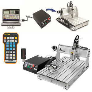 Remote Control 4 Axis 6040 Cnc Router Engraver Engraving Milling Machine Mach3