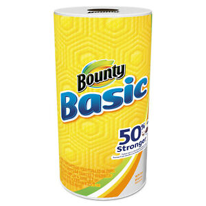 Bounty Basic Paper Towels 10 19 X 10 98 1 ply 44 roll 30 Roll carton 92976ct