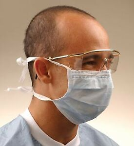 Crosstex Surgical Mask With Tie on Laces