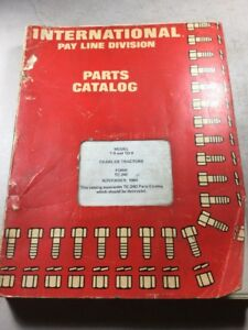 International T 9 And Td 9 Crawler Tractors Parts Catalog