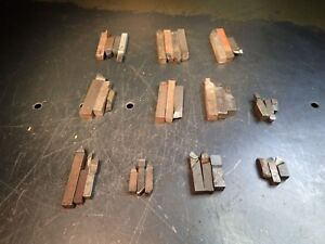 35 Pieces Of Brazed Carbide Lathe Tool Bits 1 4 To 3 8 Square Shanks Used