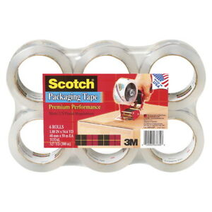 Scotch 3850 Heavy Duty Shipping Tape 1 88 Inches X 54 65 Yards Clear Pack Of