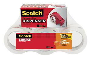 Scotch 3650 Moving And Storage Tape 1 88 Inches X 54 6 Yards Clear Pack Of 6
