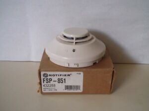 Lot Of 5 Notifier Fsp 851 Fire Alarm Photoelectric Smoke Detector