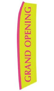 Wave Flag Grand Opening Sign Retail Advertising 134 X 32 Outdoor Polyester