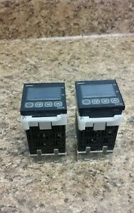 Two Omron E5cn q2t Temperature Controller