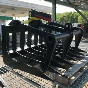 44 Hd Mini Skid Steer Root Grapple Attachment For Bobcat Mt Loader
