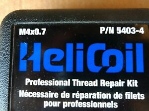 Helicoil Brand New Thread Repair Kit P n 5403 4 Size M 4 0 7
