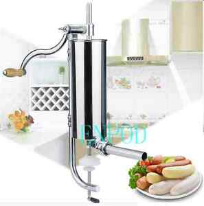 Quality 4l Sausage Stuffer Sausage Filler Stainless Steel 8x Tubes Fast Ship