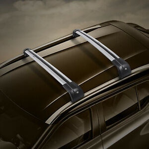 For Bmw X5 F15 2014 2018 Aluminum Roof Rack Cross Bar Luggage Key Silver Black