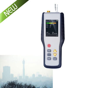 Pm2 5 Detector Particle Counter Dust Airquality Temperature Humidity Monitor Lcd