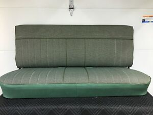 1973 1987 Chevy Gmc Truck Benchseat Restored New Cover Green Tweed Deluxe