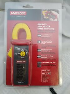 Amprobe Amp 25 300a Ac dc Trms Mini clamp Amp Clamp New In Clamshell