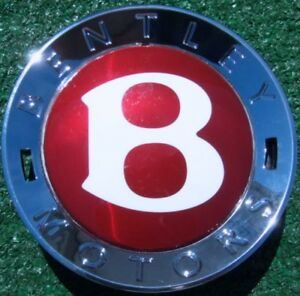 Original Genuine Oem Factory Bentley Red Small Button B Wheel Center Cap Boss