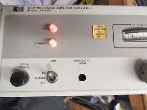 Hp Agilent 495a Microwave Amplifier 7 0 12 4 Ghz