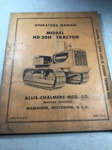 Allis Chalmers Hd20h Crawler Operators Manual