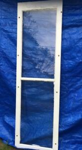 Shabby Chippy Antique 2 Pane Old Flat Glass Paint Wood Window